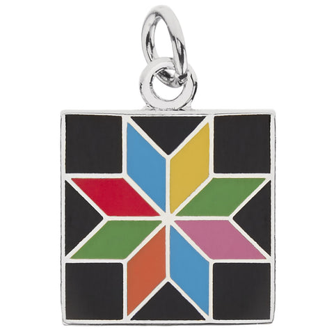 Eight-Pointed Star Charm