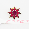Feathered Star Pin