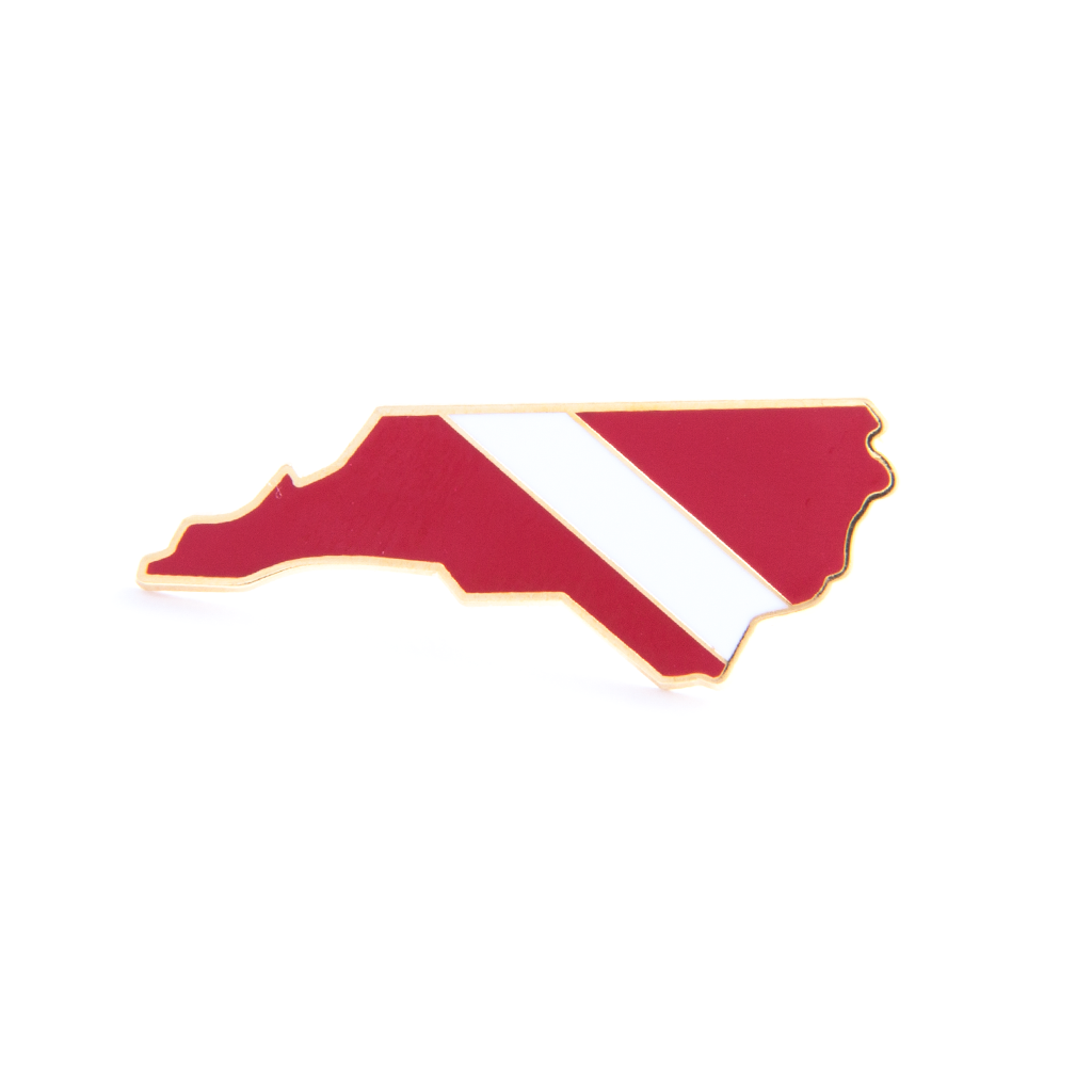 North Carolina State Dive Flag Pin