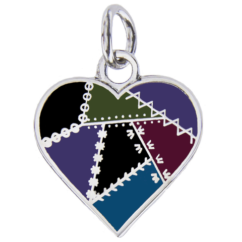 Patched Heart Charm, Dark