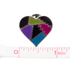 Patched Heart Pin, Dark