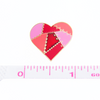 Red Patched Heart Pin