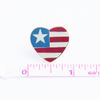 Patriotic Heart Pin, Country