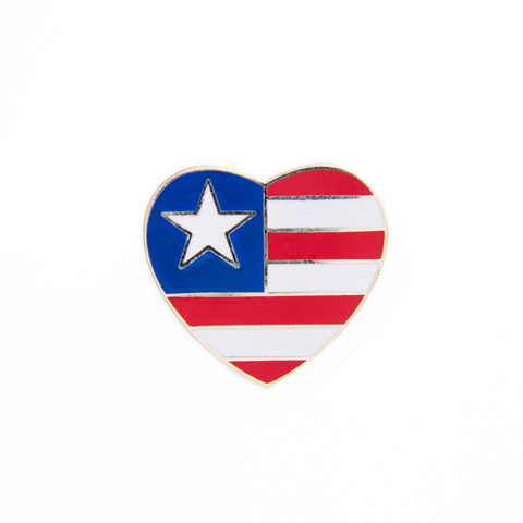 Patriotic Heart Pin, Traditional