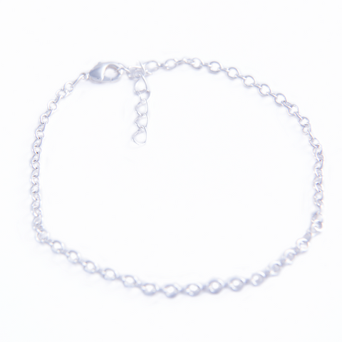 Rhodium Plated Bracelet (Adjustable)