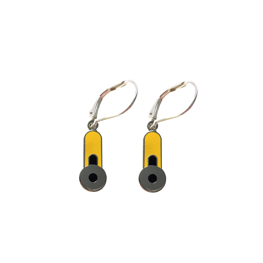 Rotary Cutter Charm Earrings