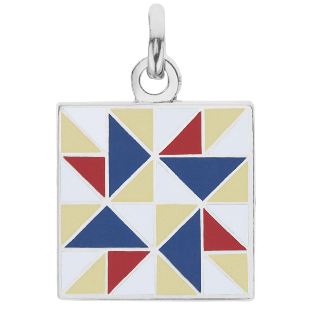 Spinning Star Charm, (Red, White, & Blue)