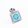 Square In A Square Pin (Green, Blue, & Gray)