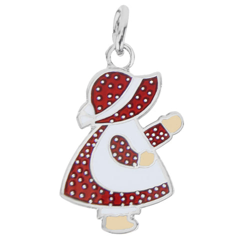 Sunbonnet Sue Charm, Red