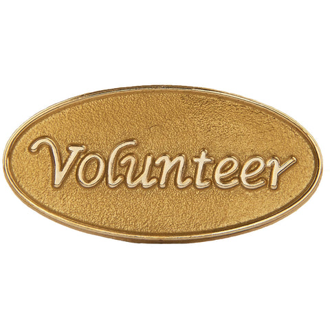 Volunteer Pin, Gold