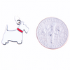 Terrier Profile Charm, White