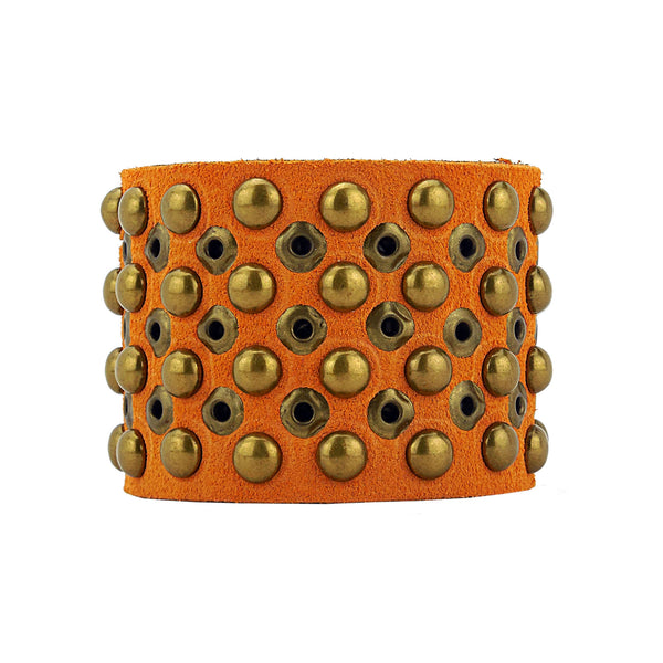 Barcelona Handmade Italian Suede Leather Cuff