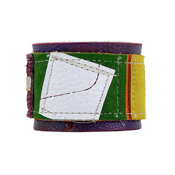 Caleb Multicolored Leather Cuff