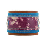 Jada Purple / Blue Paint Splatter Leather Bracelet