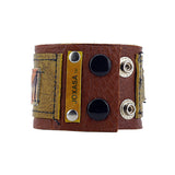 Other Side Of The Tracks Leather Cuff