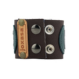Gunner Green and Gray/Grey Leather Cuff Alternative View