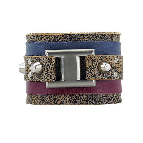 Emil Speckled Leather Cuff