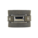 Gabriel Gray / Silver Leather Armband