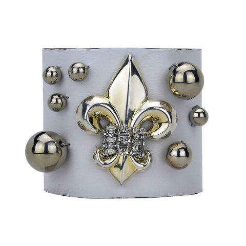 Bal des Ardents Leather Cuff