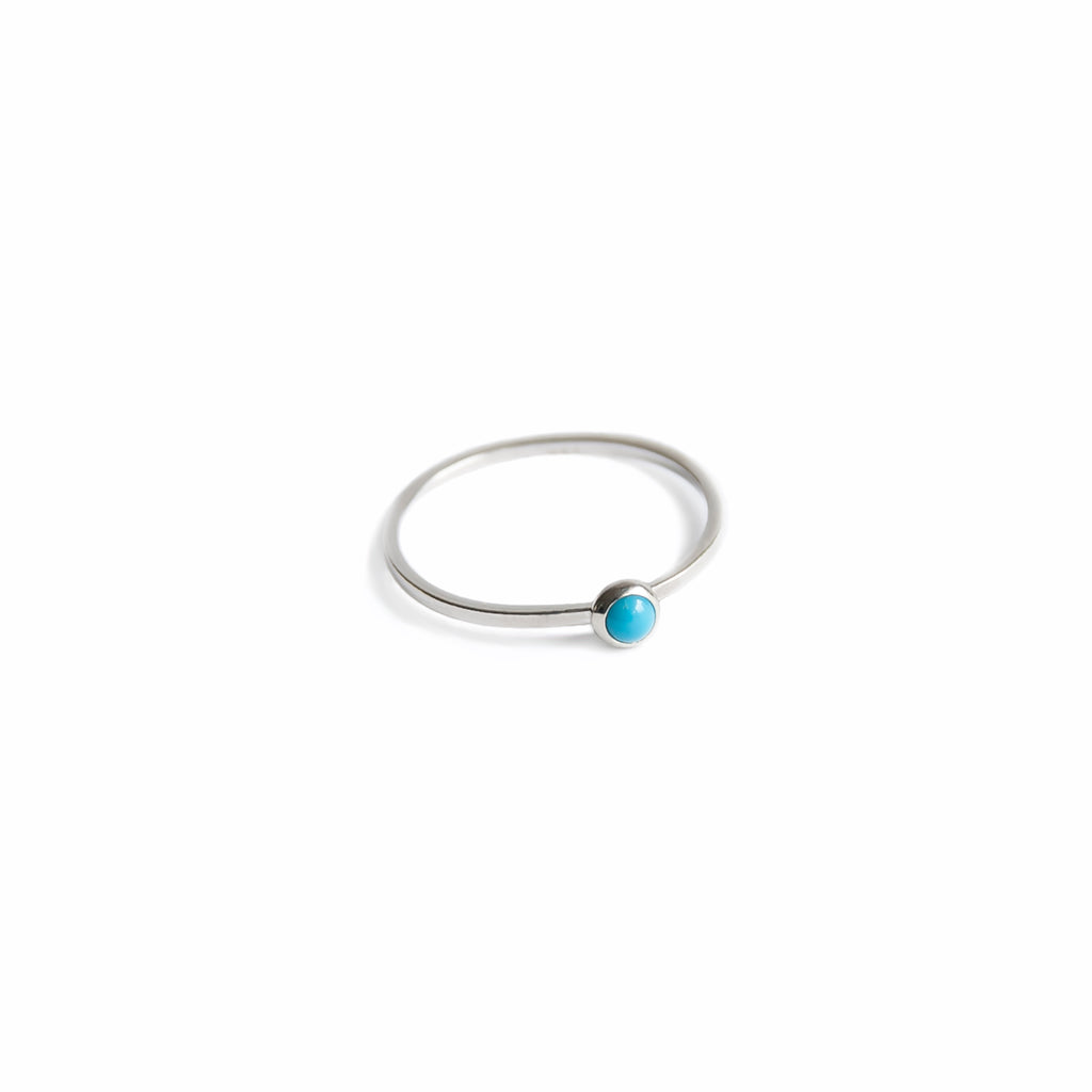 Tiny Sleeping Beauty Turquoise Ring