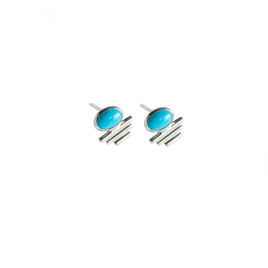 Mini Sleeping Beauty Turquoise Aztec Studs