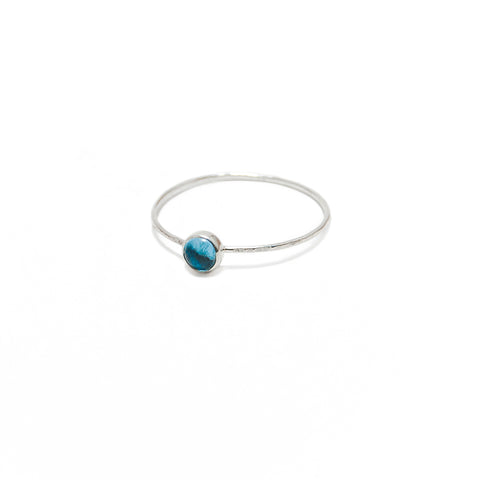 Demi Blue Topaz Ring