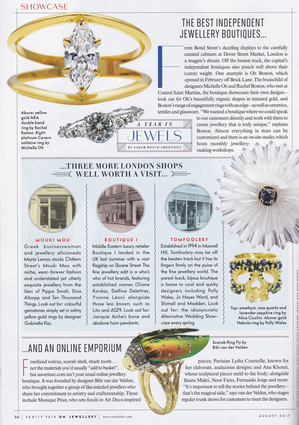 OH BOSTON in Vanity Fair - London's Best Independent Jewellery Boutiques