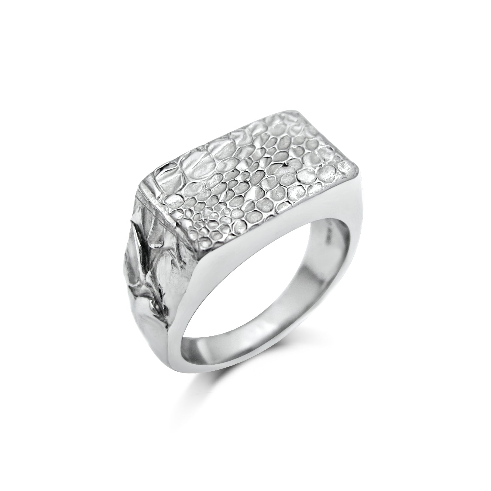 Snake Skin Texture Platinum Wedding Ring
