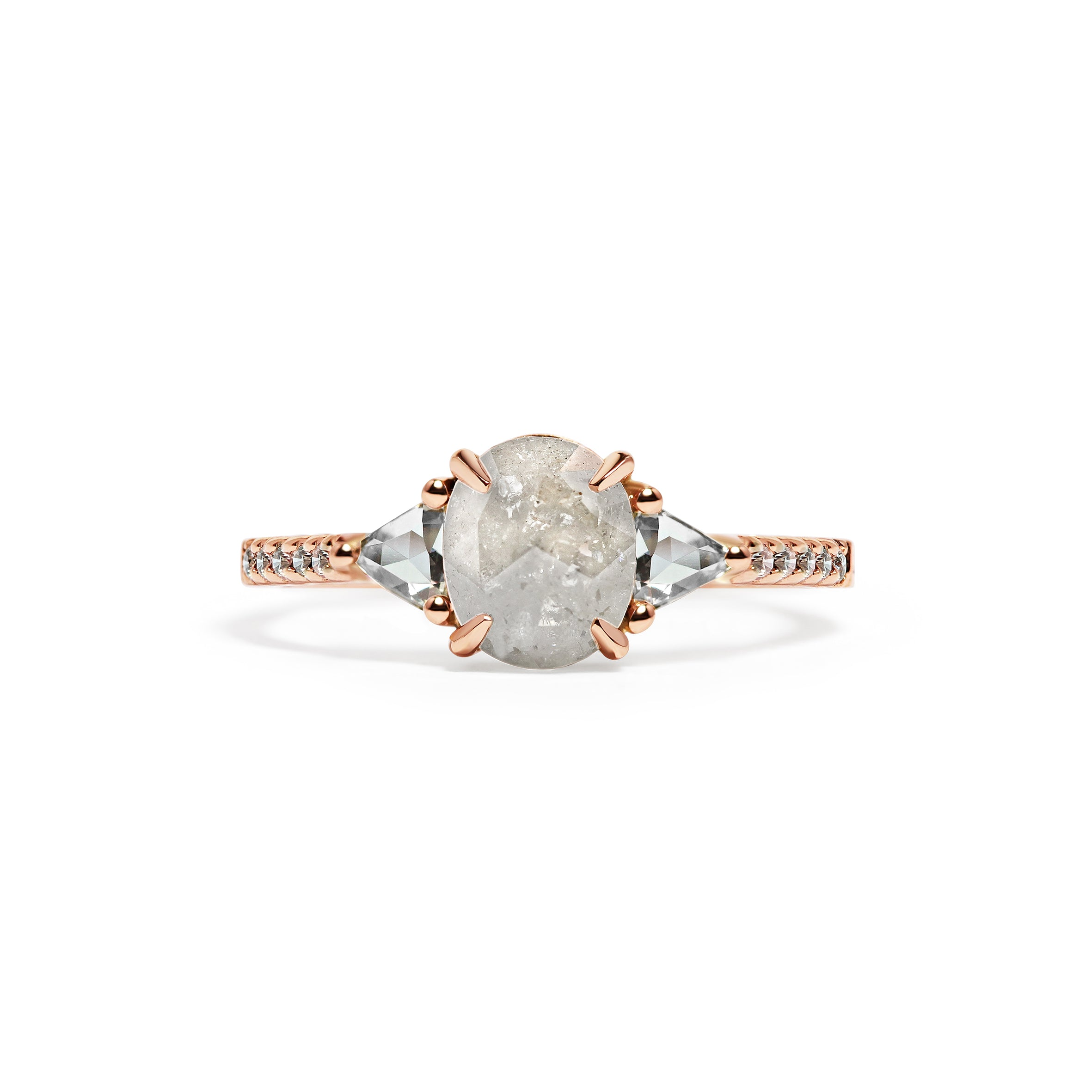 Imperfect Diamond Engagement Ring
