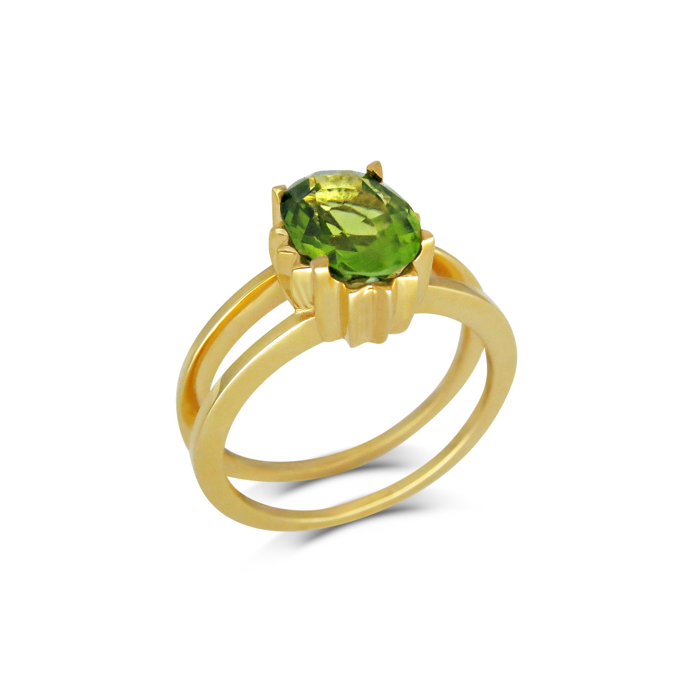 18ct Yellow Gold and Peridot