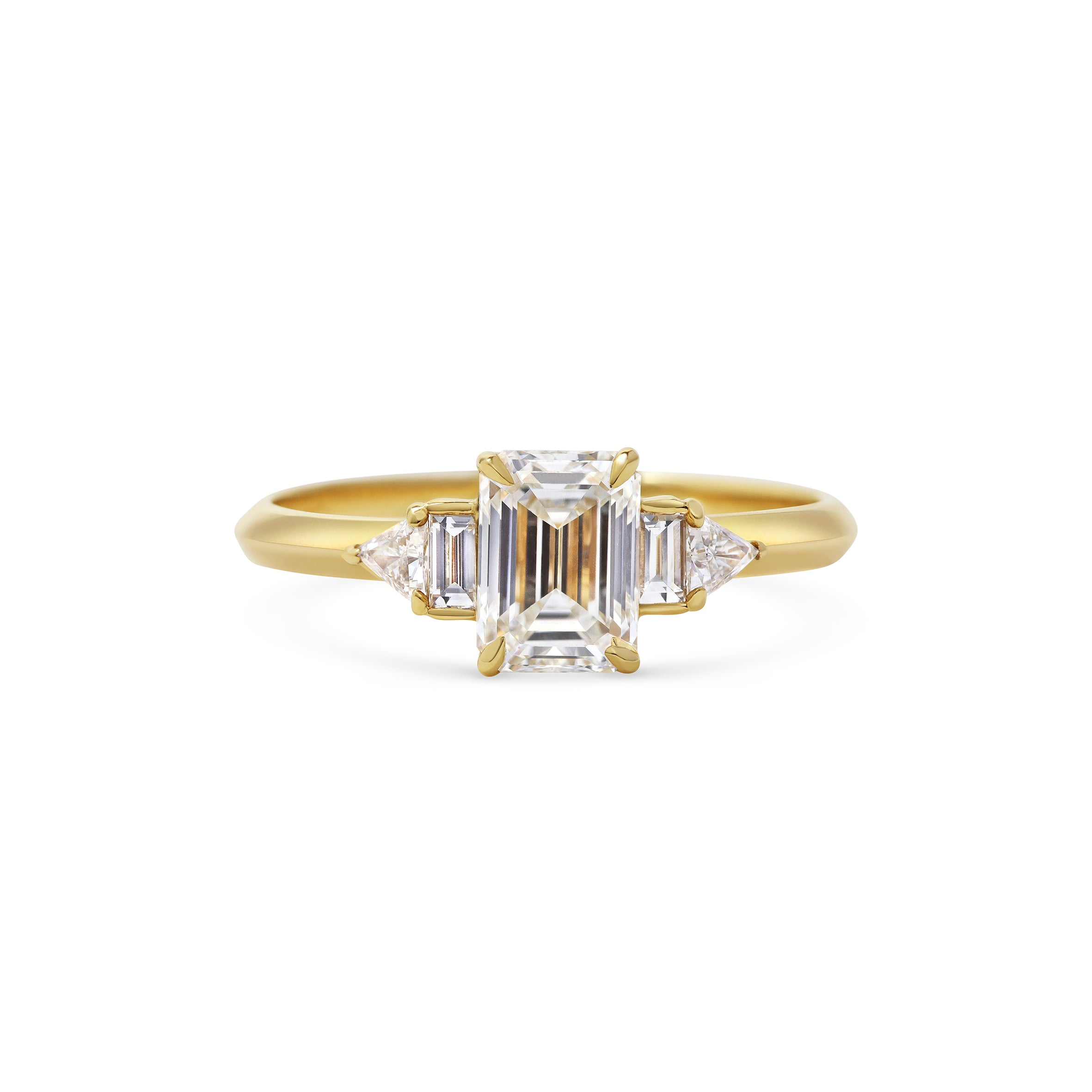 Art Deco Engagement Ring Yellow Gold