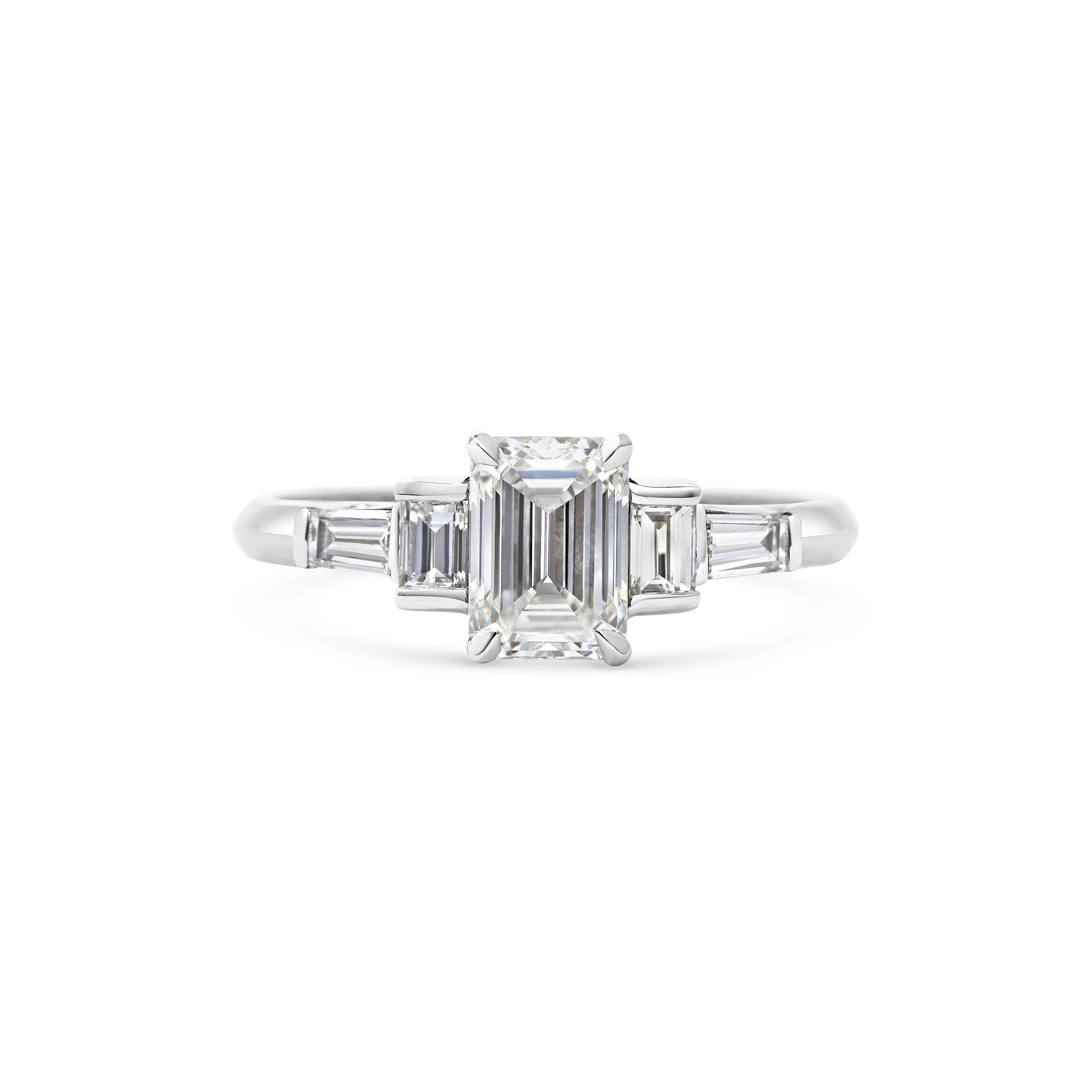 Art Deco Platinum Engagement Ring
