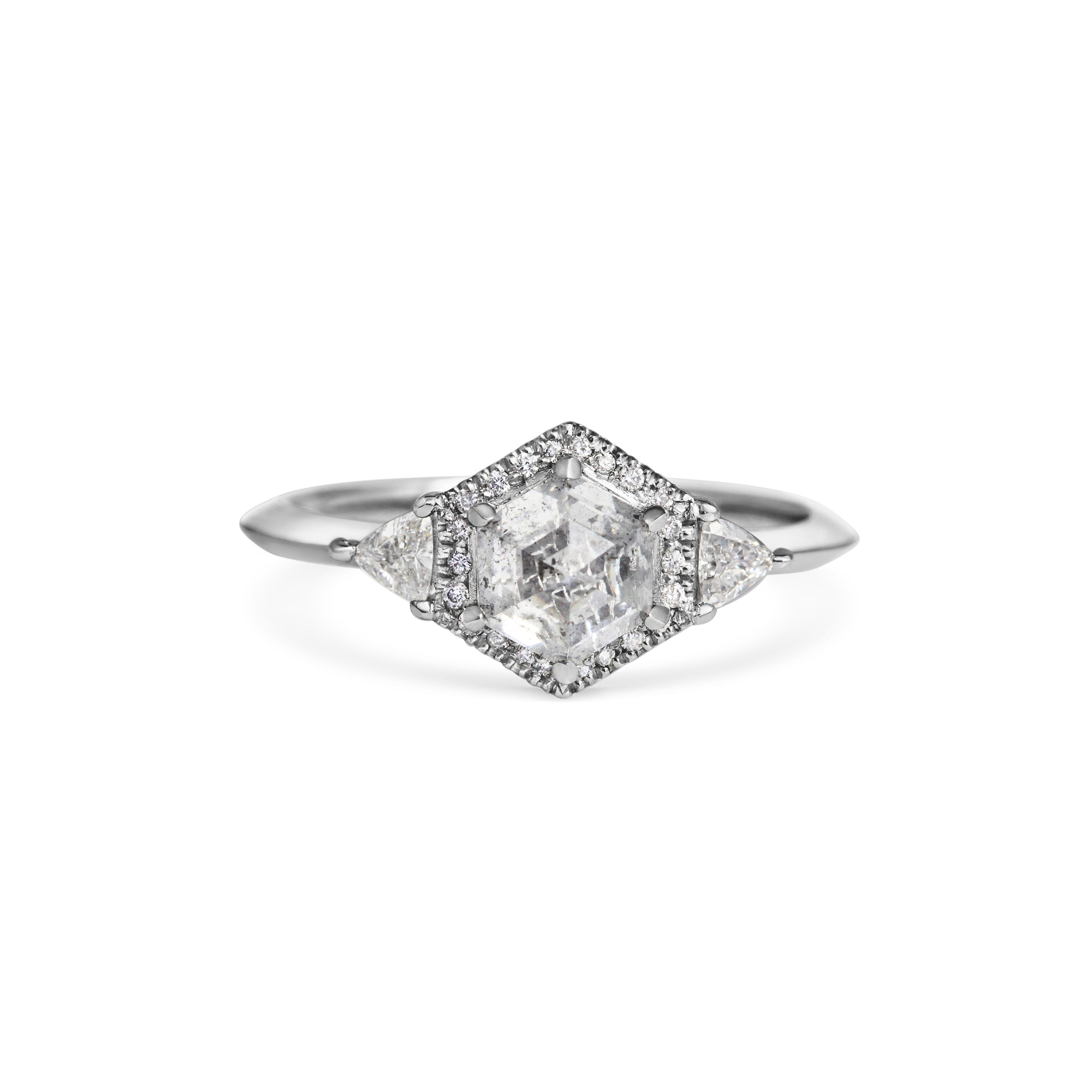 Imperfect Diamond with Halo and Triangle Diamonds