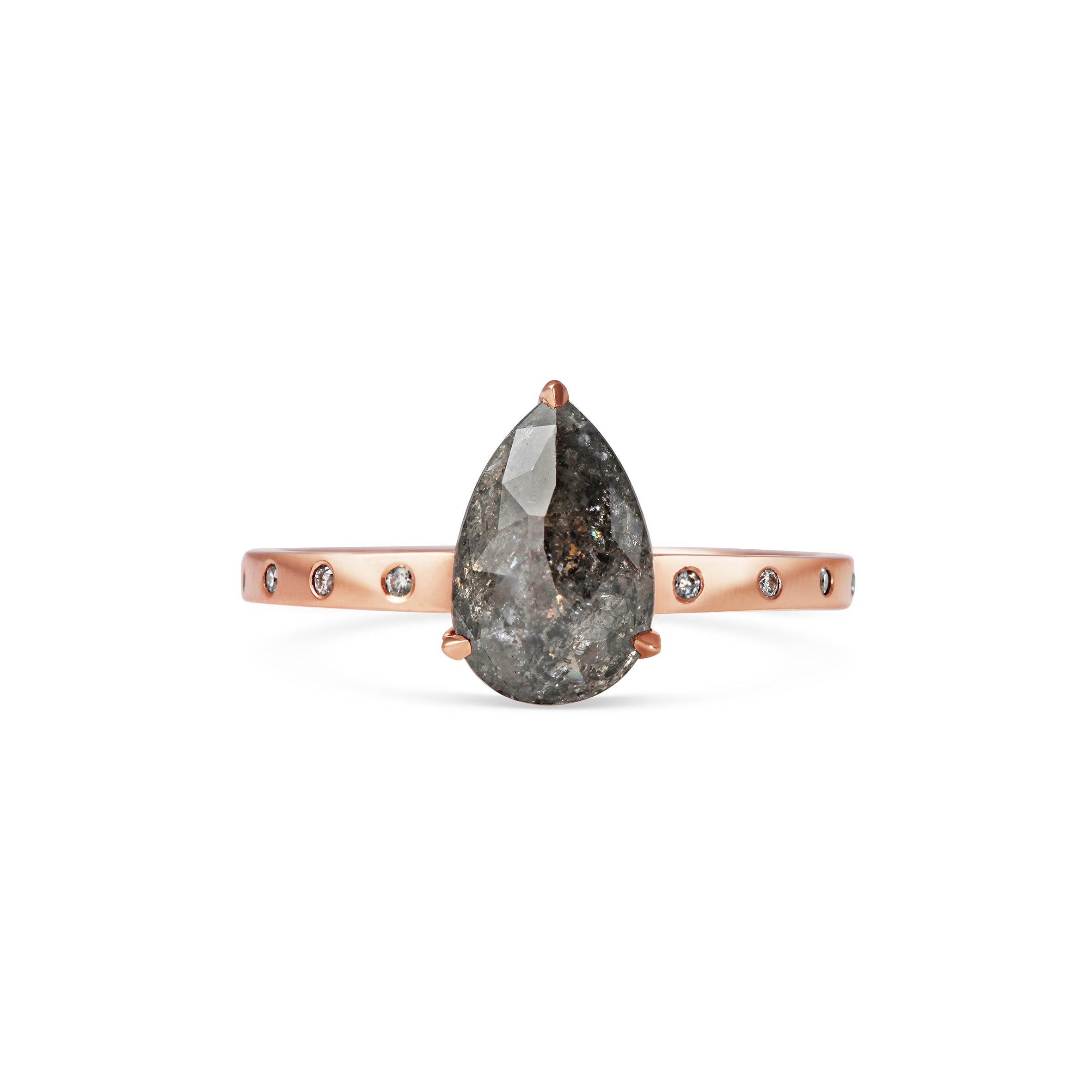 Salt and Pepper Diamond in Rose Gold