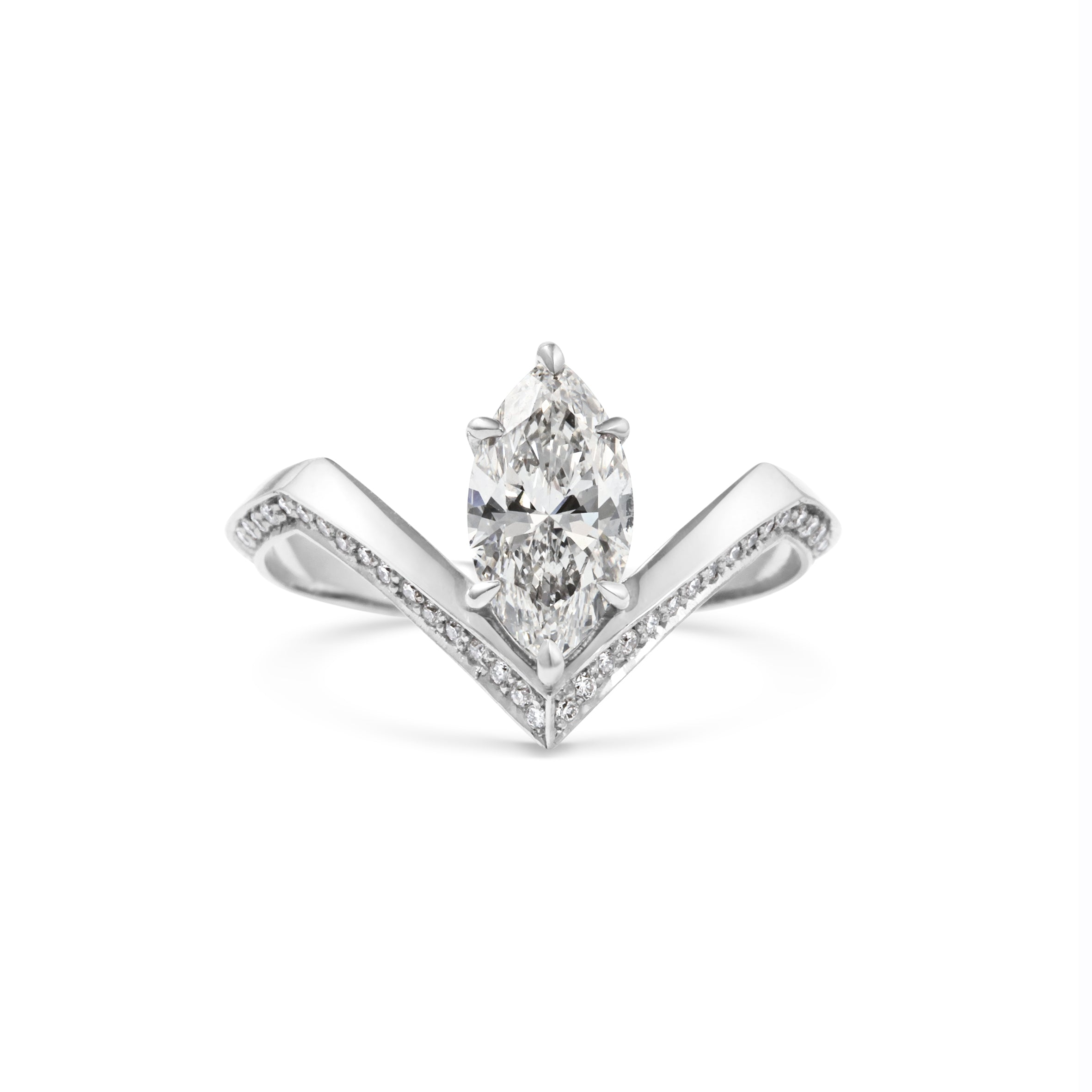 ring jewellers products engagement diamond pear white gold campbell halo dublin bespoke rings