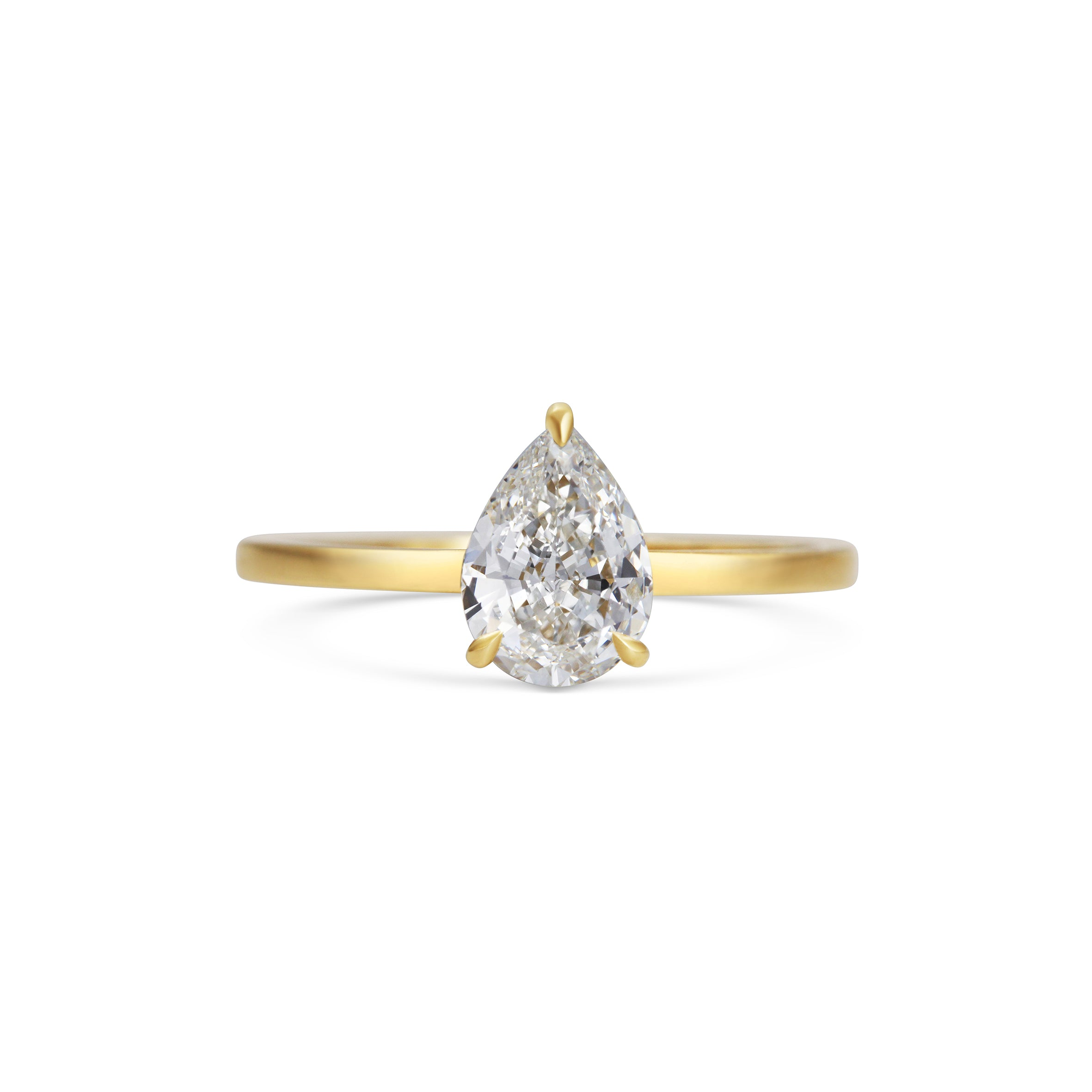 1ct Pear Diamond 18ct Yellow Gold