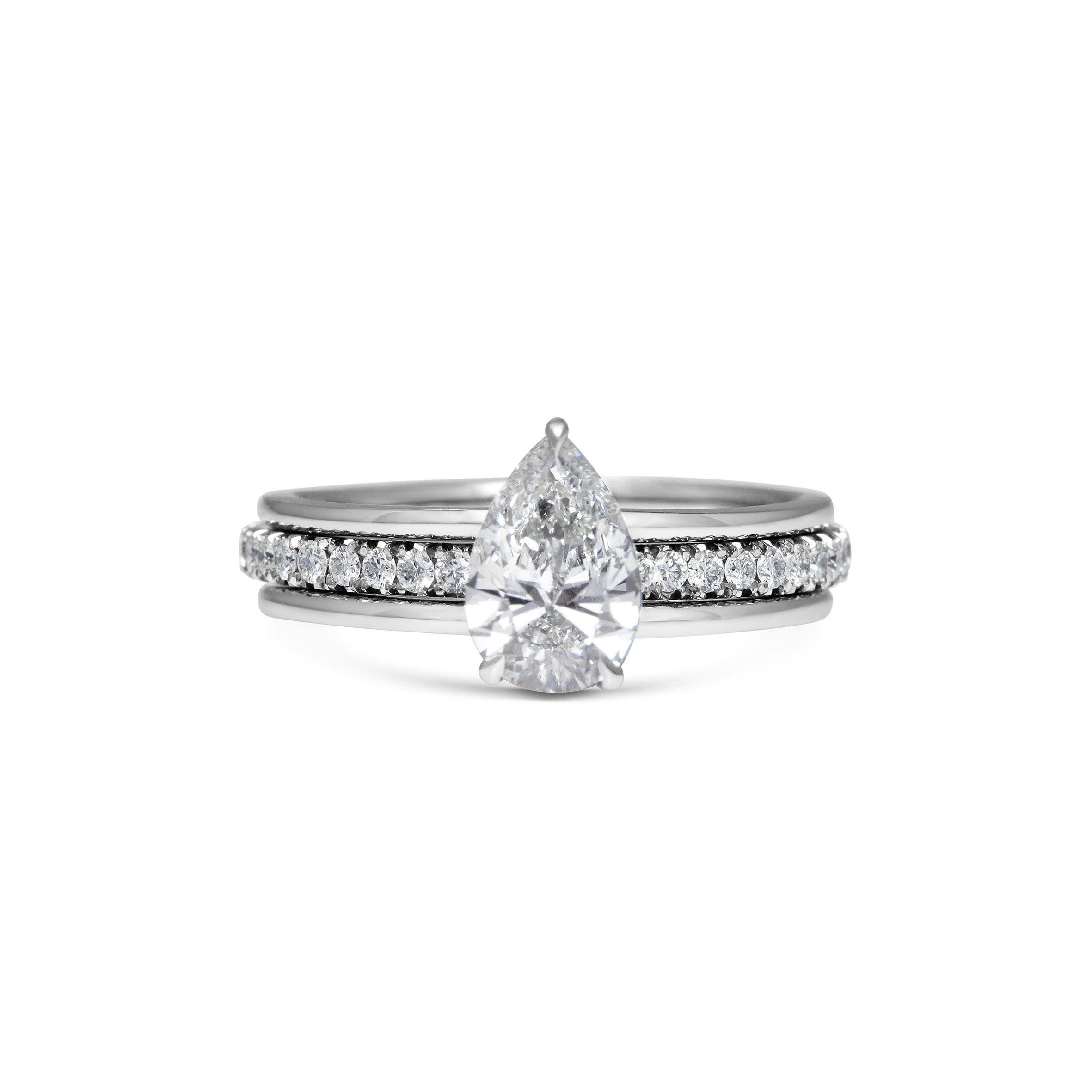 1ct Pear Diamond Platinum Engagement Ring