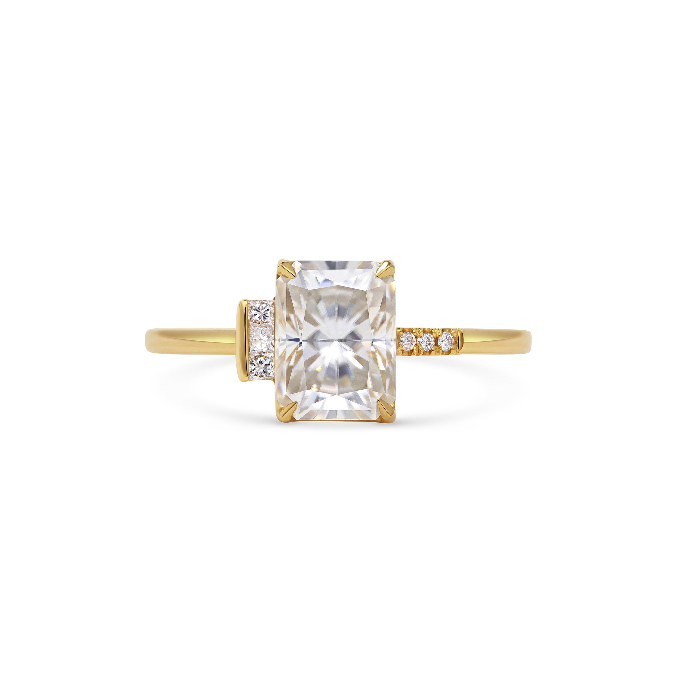 Radiant Cut Asymmetrical Engagement Ring