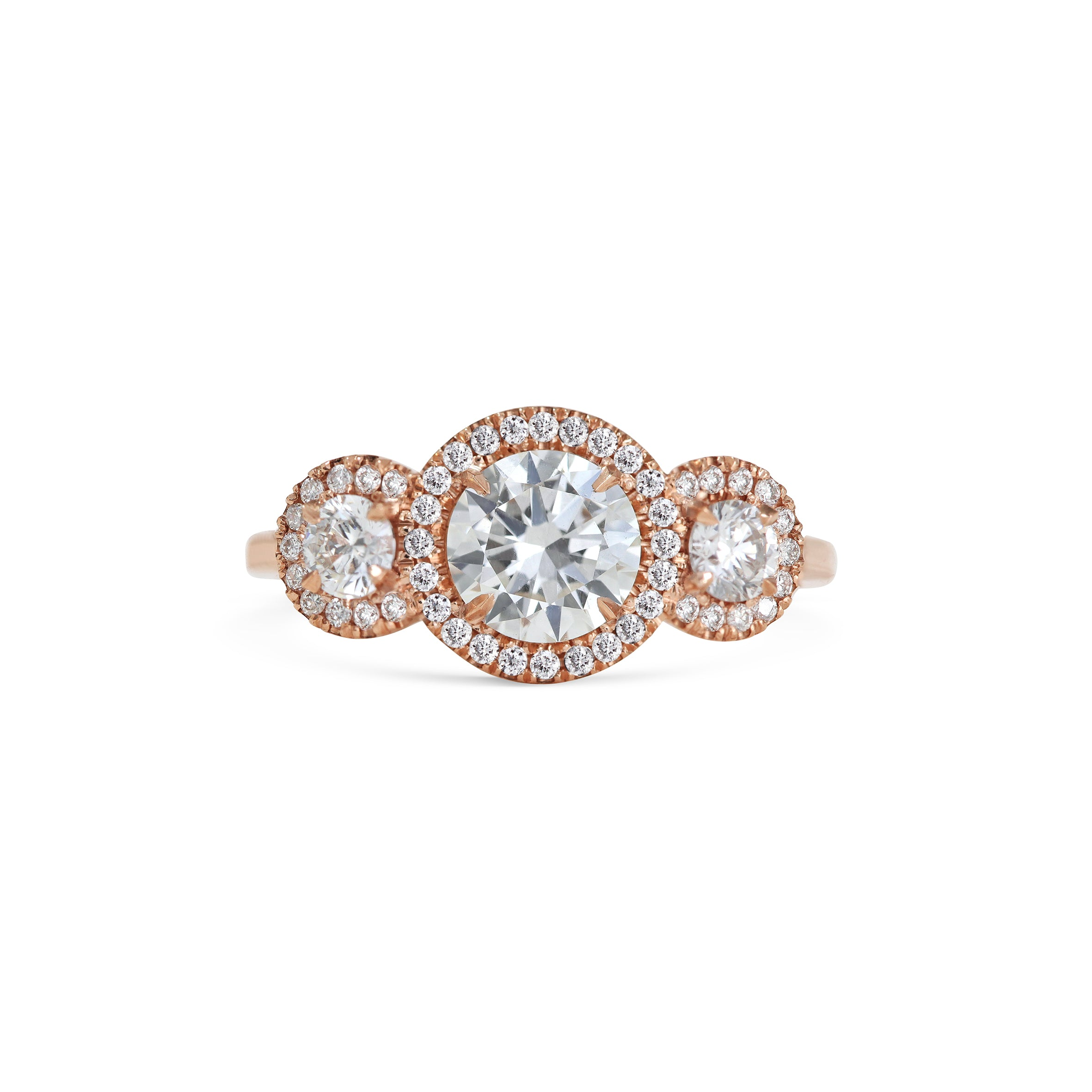18ct Rose Gold Diamond Engagement Ring