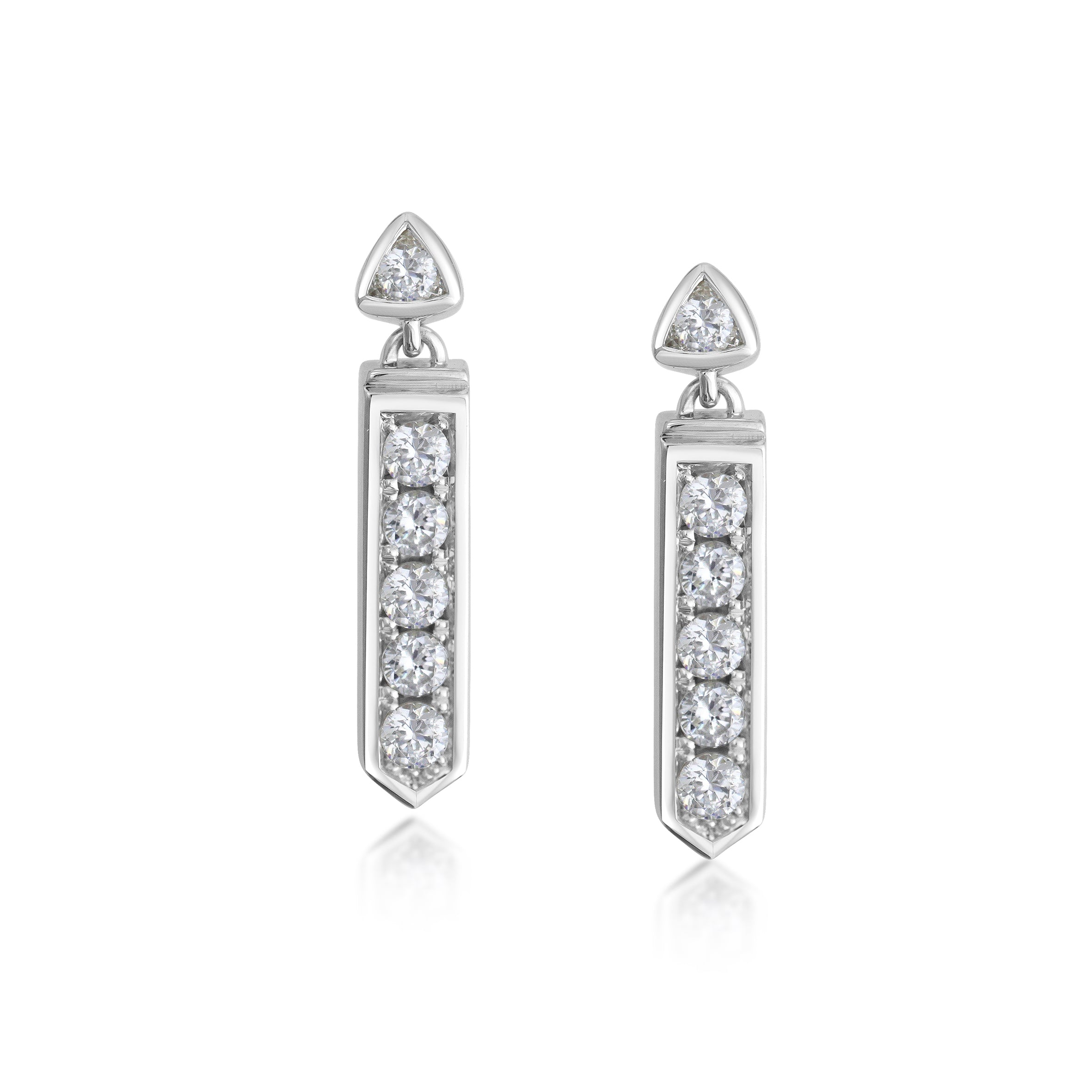 Bridal Earrings White Gold and Diamonds
