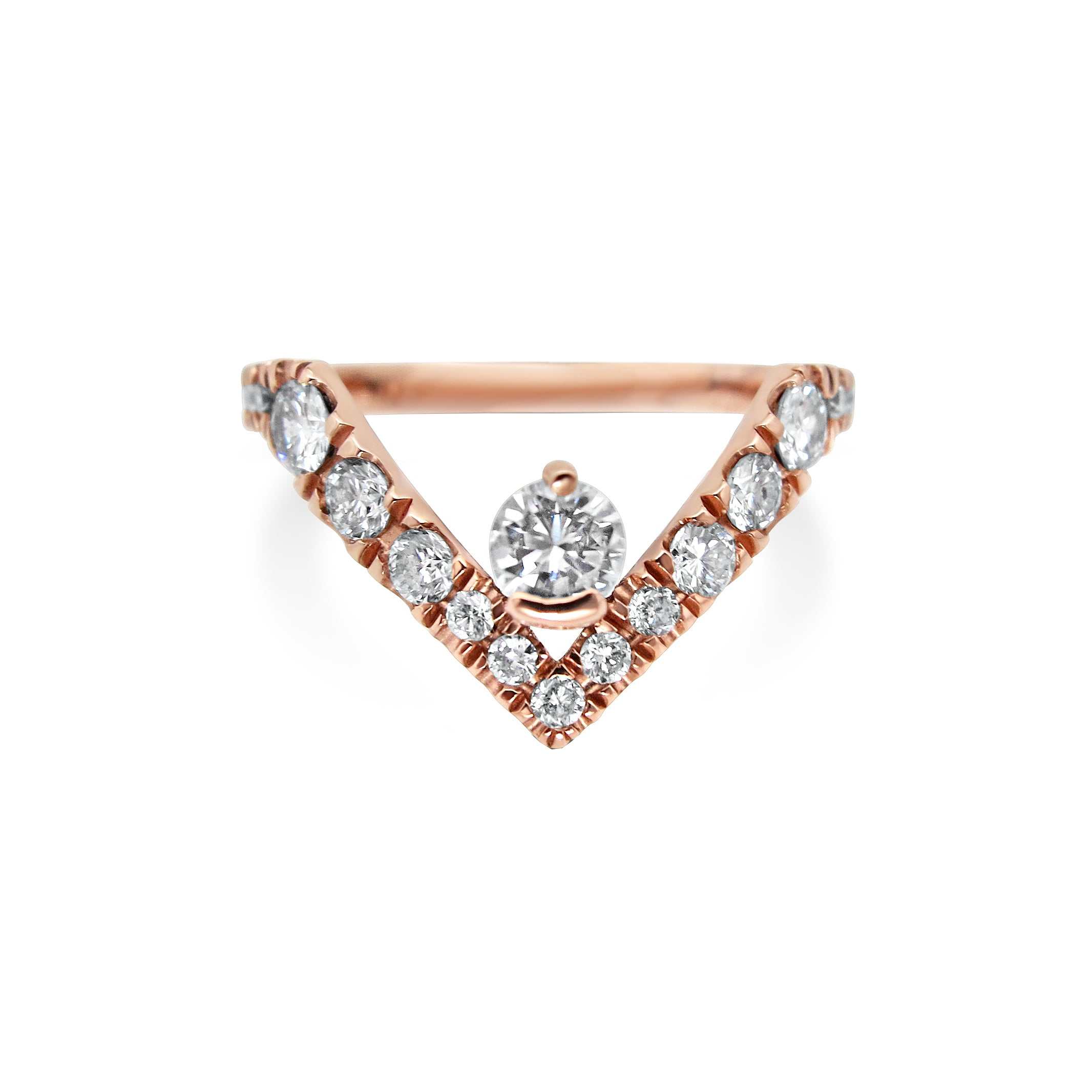 Diamond Rose Gold Engagement Ring