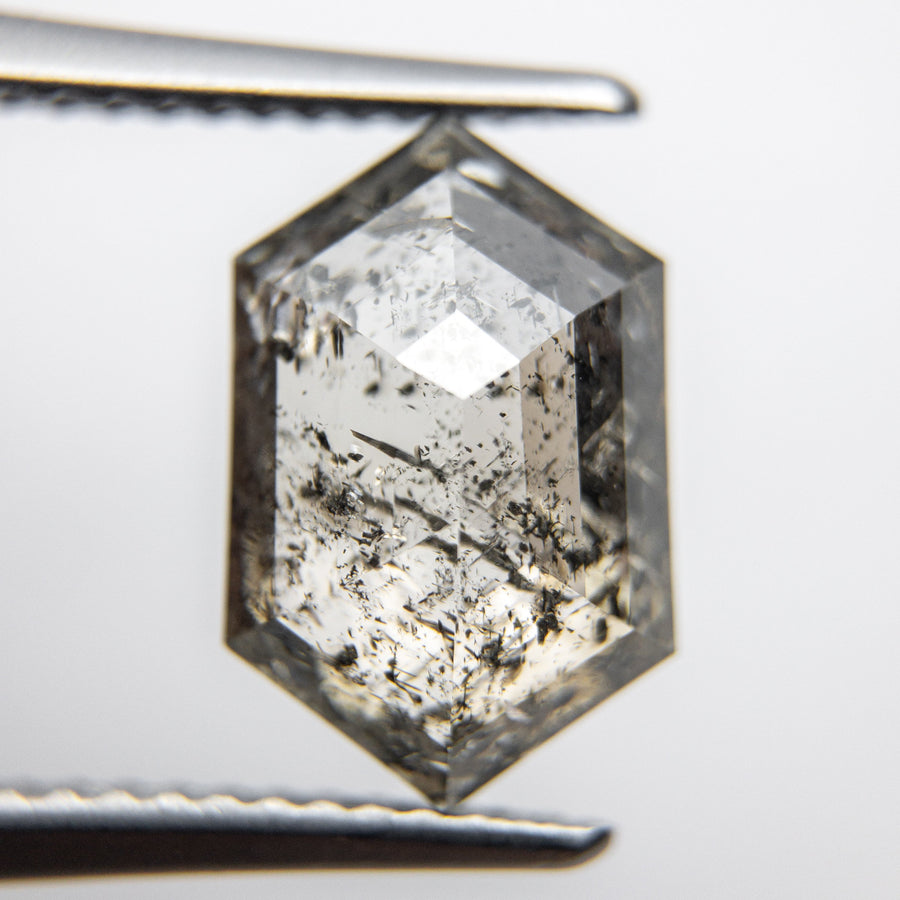 4.09ct 12.27x7.98x4.74mm Hexagon Rosecut 18113-01