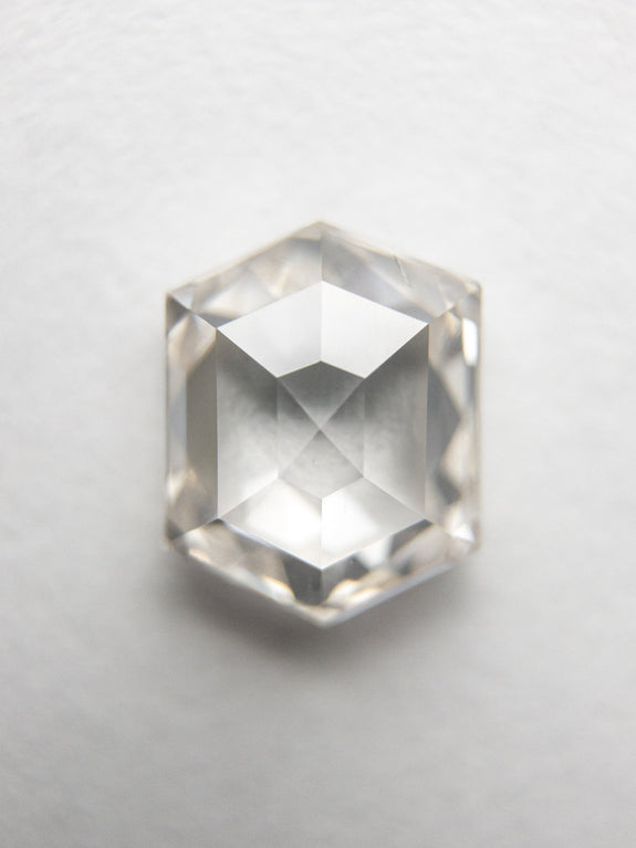 1.38ct 7.39x5.85x3.19mm Hexagon Rosecut 18154-02 - Rachel Boston Jewellery