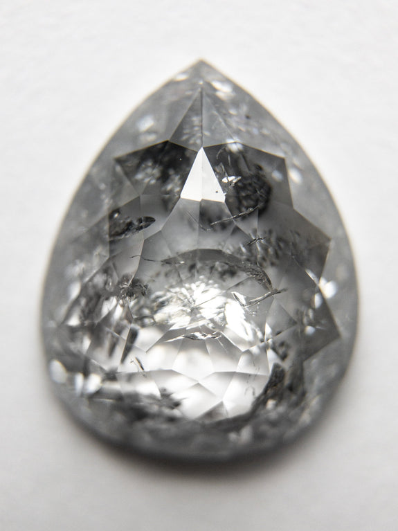 3.77ct 11.93x9.78x4.10mm Pear Rosecut 18211-01 - Rachel Boston Jewellery