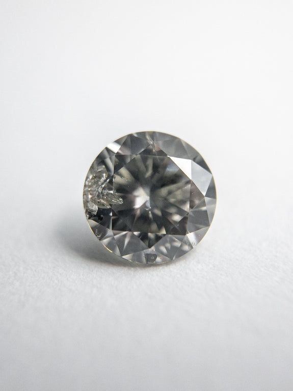 0.57ct 5.27x5.25x3.19mm Fancy Grey Round Brilliant 18273-06 - Rachel Boston Jewellery