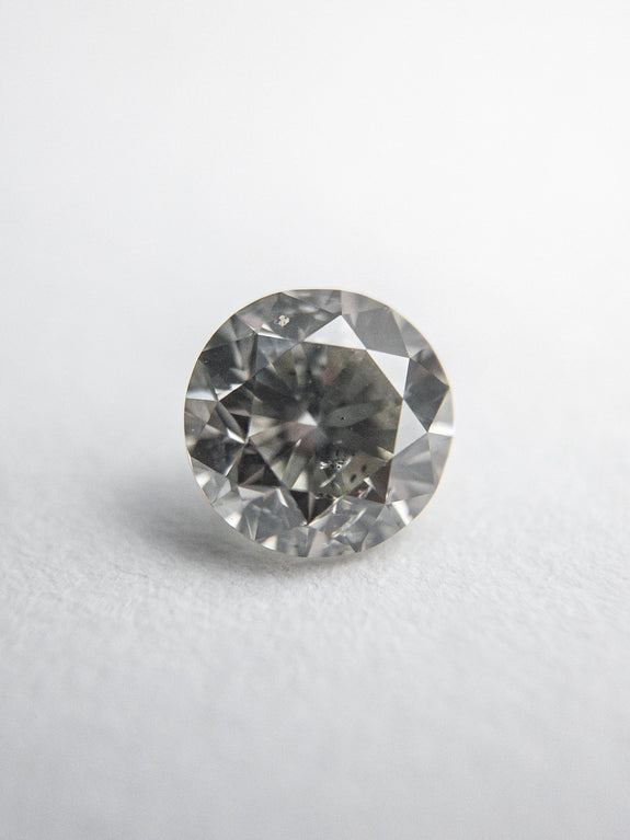 0.46ct 4.81x4.74x3.09mm Fancy Grey Round Brilliant 18273-07 - Rachel Boston Jewellery