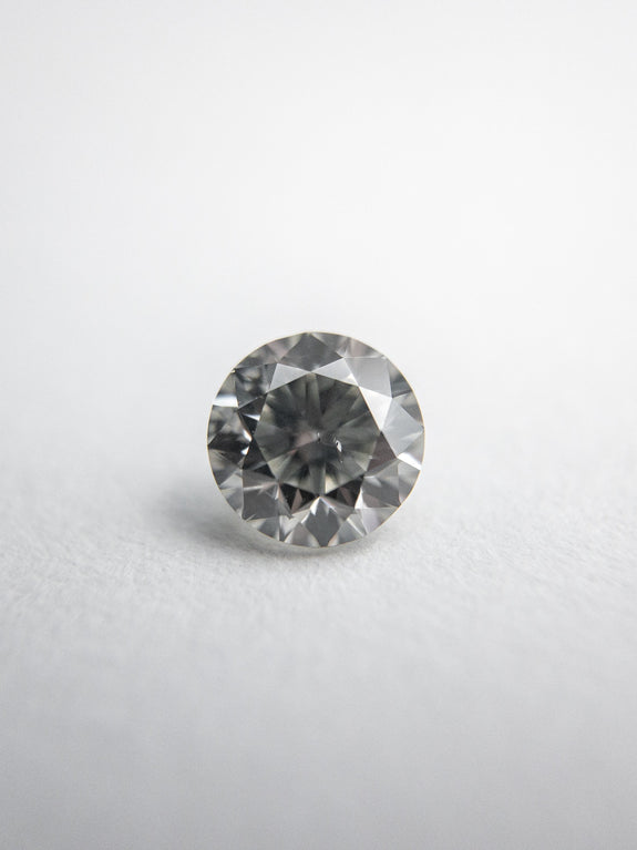0.46ct 4.80x4.77x3.20mm Fancy Grey Round Brilliant 18273-08 - Rachel Boston Jewellery