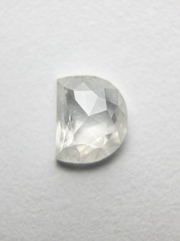 0.61ct 5.72x4.66x2.17mm Half Moon Rosecut 18351-16 - Rachel Boston Jewellery