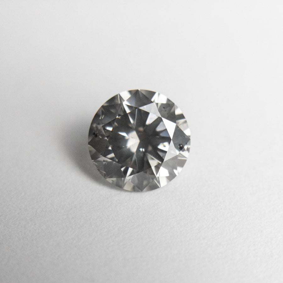 1.06ct 6.53x6.50x3.97mm SI2 Grey Round Brilliant 18462-01