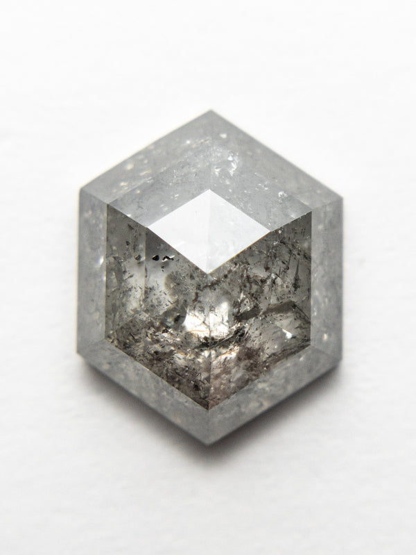 3.36ct 11.05x8.80x4.00mm Hexagon Rosecut 18523-05 - Rachel Boston Jewellery